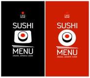 Mall för sushimenydesign. Arkivbilder