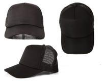 Mall för svart hatt Arkivfoto