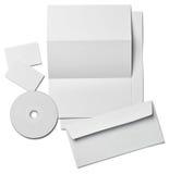Mall för tomt papper för kort för broschyrbokstavsaffär vit Arkivbilder