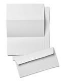 Mall för tomt papper för kort för broschyrbokstavsaffär vit Royaltyfria Bilder