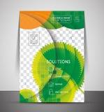 Mall för tryck för grön designaffär företags Royaltyfri Fotografi