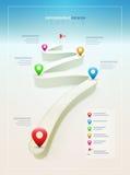 Mall för vägInfographic design stock illustrationer