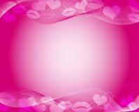 Mall för varma rosa färger Stock Illustrationer