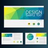 Mall för vektor för broschyrreklambladdesign Royaltyfri Foto