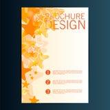 Mall för vektor för broschyrreklambladdesign 10 eps Arkivfoto