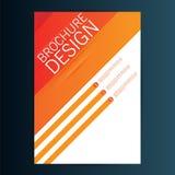 Mall för vektor för broschyrreklambladdesign 10 eps Arkivbilder