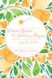 Mall för vektor för inbjudanbröllopkort stock illustrationer