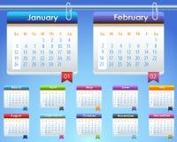 Mall 2014 för vektor för kalenderår Arkivfoton
