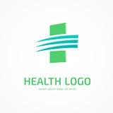 Mall för vektor för logodesignabstrakt begrepp medicinsk Arkivbild
