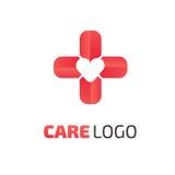 Mall för vektor för logodesignabstrakt begrepp medicinsk Fotografering för Bildbyråer