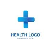 Mall för vektor för logodesignabstrakt begrepp medicinsk Royaltyfri Fotografi