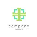 Mall för vektor för logodesignabstrakt begrepp medicinsk Royaltyfri Bild
