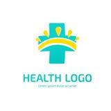 Mall för vektor för logodesignabstrakt begrepp medicinsk Royaltyfria Bilder