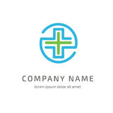 Mall för vektor för logodesignabstrakt begrepp medicinsk arkivfoto