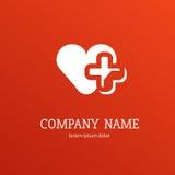 Mall för vektor för logodesignabstrakt begrepp medicinsk Arkivbilder