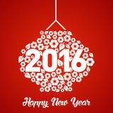 Mall 2016 för vektor för nytt år för apa Arkivfoto