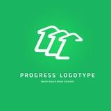 Mall för vektor för pil för logoabstrakt begreppdesign Arkivbilder