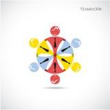 Mall för vektor för Team Partners Friends teckendesign Arkivbild