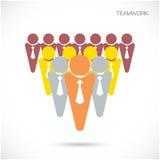 Mall för vektor för Team Partners Friends teckendesign Royaltyfri Bild