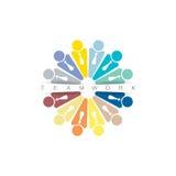 Mall för vektor för Team Partners Friends teckendesign Arkivfoto