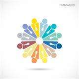Mall för vektor för Team Partners Friends teckendesign Affär Teamw Royaltyfri Foto
