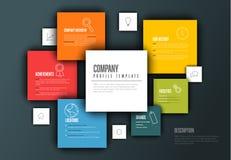 Mall för Vektor Företag infographic överblickdesign Arkivbild