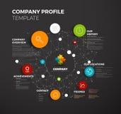 Mall för Vektor Företag infographic överblickdesign royaltyfri illustrationer