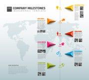 Mall för Vektor Infographic Företag historieTimeline vektor illustrationer