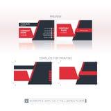 Mall för vektoraffärskort En-till-en mått för printin Arkivbild