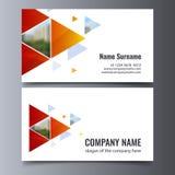 Mall för vektoraffärskort Idérik orientering för företags identitet Arkivfoto
