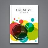 Mall för vektoraffischreklamblad Abstrakt färgrik bakgrund för affärsreklamblad, affischer och plakat Broschyrtamplate Royaltyfri Fotografi