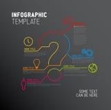 Mall för vektorfrågeMark Infographic rapport Royaltyfri Bild