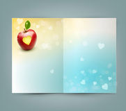 Mall för vektorhälsningkort för valentin dag Arkivfoton