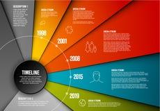 Mall för vektorInfographic timeline royaltyfri illustrationer