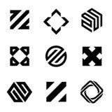 Mall för vektorlogodesign för affär abstrakt symboler royaltyfri illustrationer