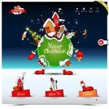 Mall för website för julnatt Royaltyfria Bilder