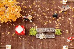 Mall fall. This is the interior decoration autumn mall Royalty Free Stock Images