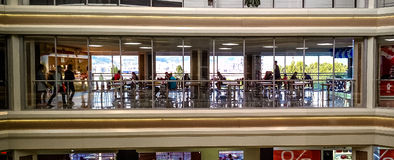 Mall food court. A food court at big shopping mall at Novorossysk stock photography
