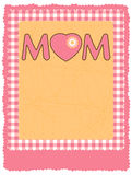 mall för affisch s för moder för 8 dag eps-reklamblad lycklig Arkivfoton
