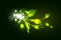mall för designleaflampa Arkivbilder