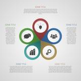 Mall för din affärspresentation (informationsdiagrammet) Fotografering för Bildbyråer