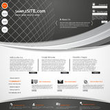 Mall för mörker för beståndsdelar för Websiterengöringsdukdesign Royaltyfria Foton