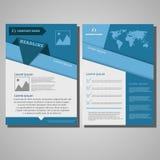 Mall för orientering för broschyrreklambladdesign, format A4, förstasida Fotografering för Bildbyråer