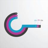 Mall för vektorbeståndsdelinfographics för designen av websiten av de tre delarna Royaltyfri Foto
