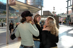 Mall Girls. A trio of city women hanging at the mall. Women shopping together Stock Photography