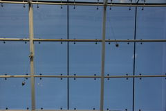 Mall glass roof. Mall steel structure roof have use glass materials, daylighting is very superior Stock Photos