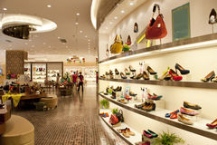 Mall hall and store Stock Image