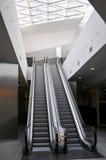 Mall interior design. Modern mall design with giant escalators Stock Photos