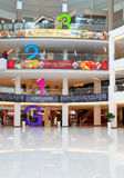 Mall interior with huge floor numbering Royalty Free Stock Images
