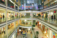 Mall interior in Prague, Czech Republic. Royalty Free Stock Images